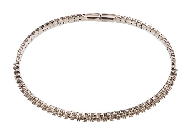 Pave Diamond Bangle Bracelet