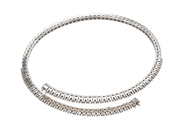 Pave Diamond Bangle-2 Lines