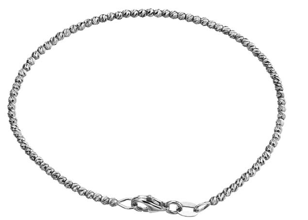 2mm Diamond Cut Beaded Bracelet