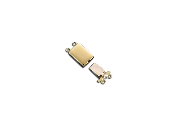 Rectangle Box Pearl Clasp 2 Lines