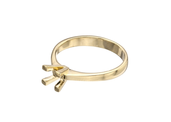 Picture of Princess Solitaire Ring 4 Prong