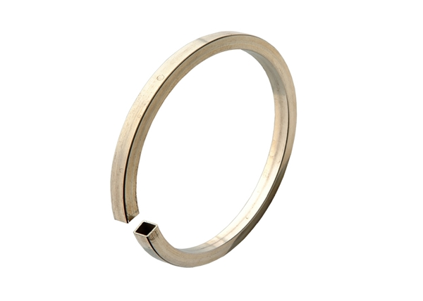 65mm Sterling Silver Square Tube Bangle