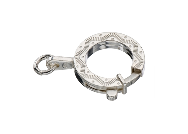 Fancy Round Ring Clasp-2 pcs