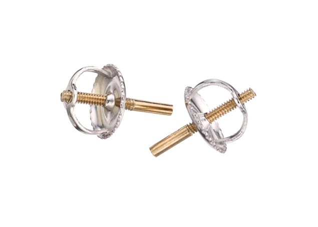 Double Threaded Earring Back-Large