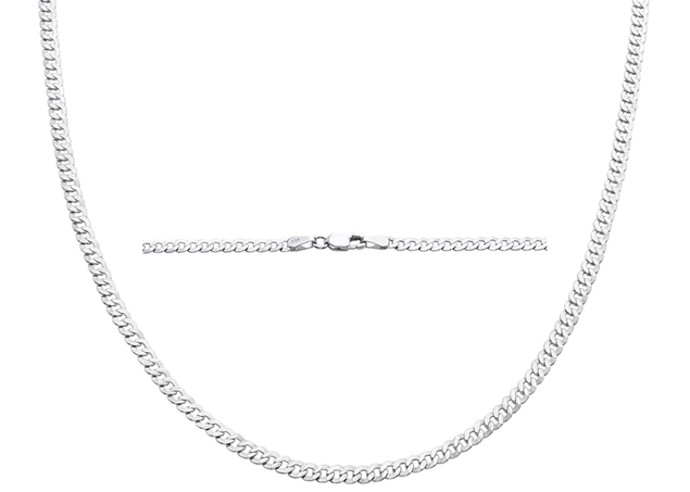 3mm Diamond Cut Curb Chain