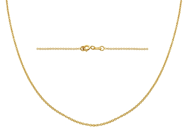 1.2mm Oval Rolo Chain