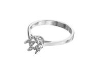 Six Prong Diamond Engagement Ring