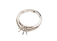 Cathedral Ring With Side Stones 6 Prong