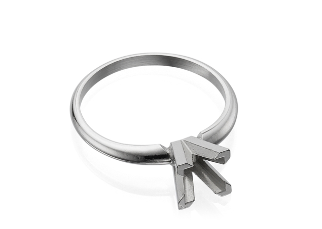 Princess cut Solitaire Ring