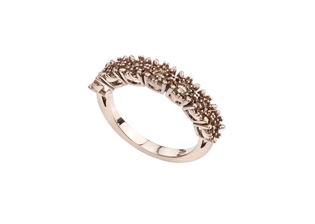 Halo Seven Stone Diamond Ring
