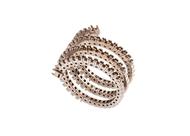 Diamond Spiral Ring