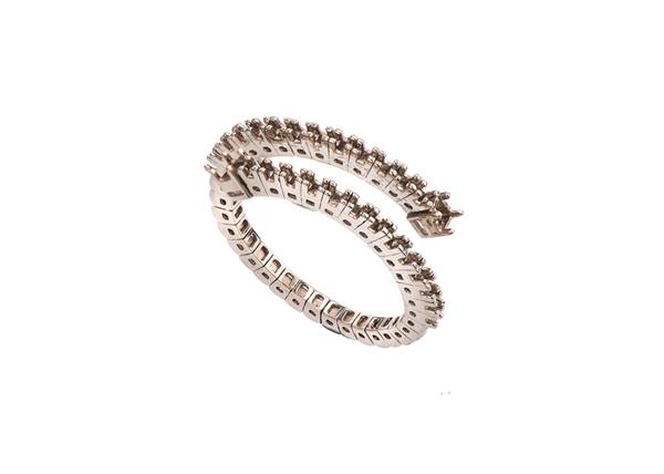 Diamond Spiral Rings
