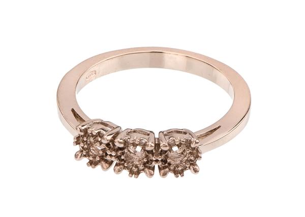 Halo Three Diamond Stone Ring