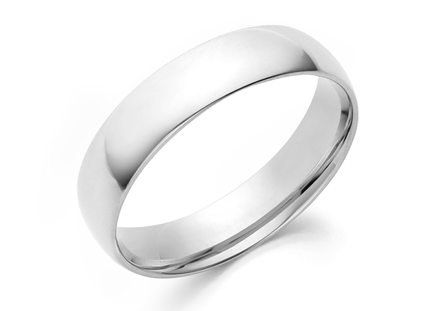 Half Round Wedding Band 5mm For Man
