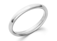 Domed Comfort Fit Wedding Band-2.5mm
