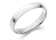 Domed Comfort Fit Wedding Band-4mm
