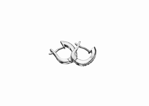 13x10mm Diamond Hoop Earring