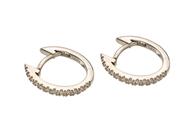 13x11mm Diamond Hoop Earrings