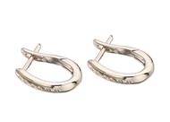 15x11mm Diamond Hoop Earrings