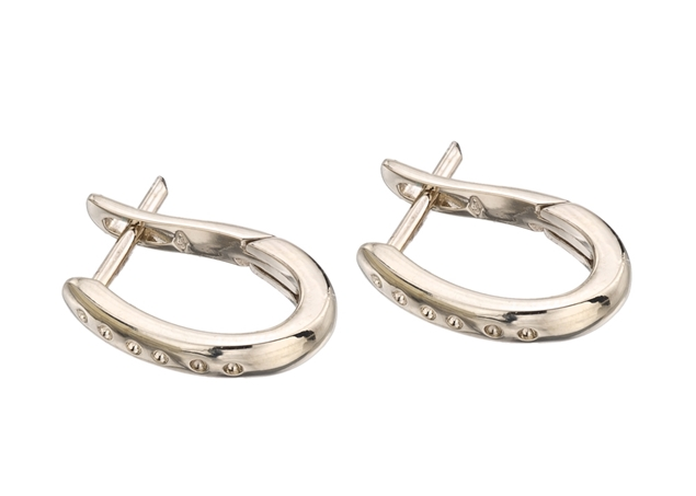 15x11mm Diamond Hoop Earrings
