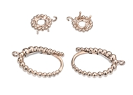 16x10mm Round Diamond Earrings