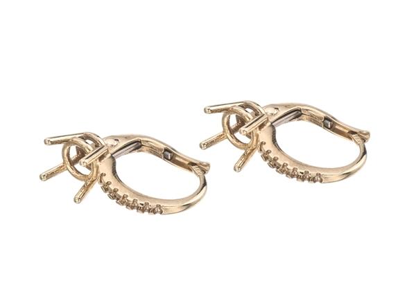 Lever Back Diamond Earrings