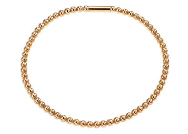 3mm Diamond Cut Beaded Bracelet