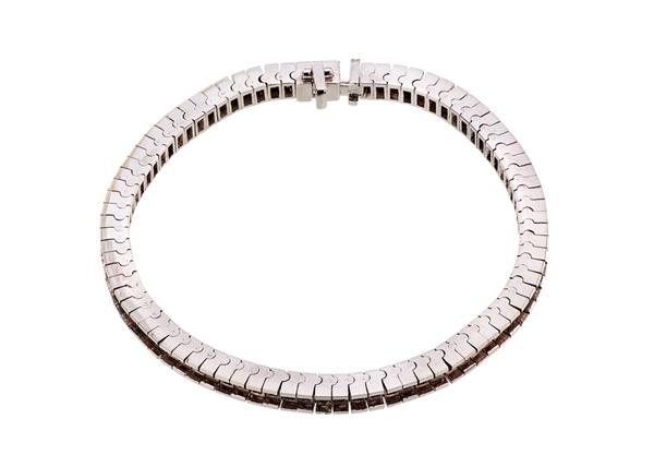 Tennis Bracelet Princess-Cut-18cm