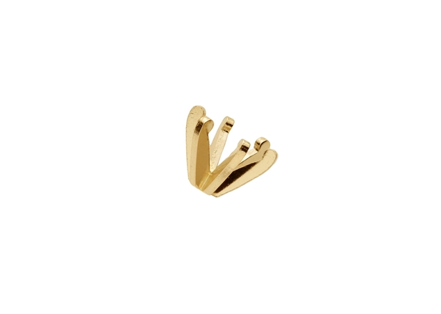 6 Prong Low Profile Gold Setting