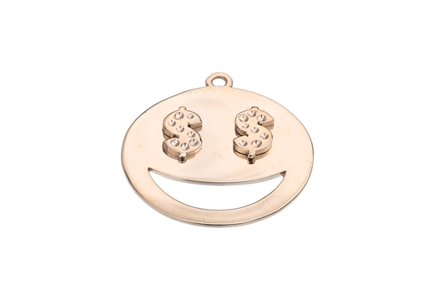 Smiley With $ Pendant For Settings