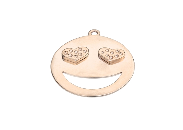 Smiley With Heart Pendant For Settings