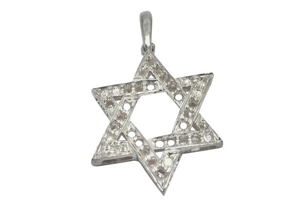 Large Star Of David Pendant For Setting