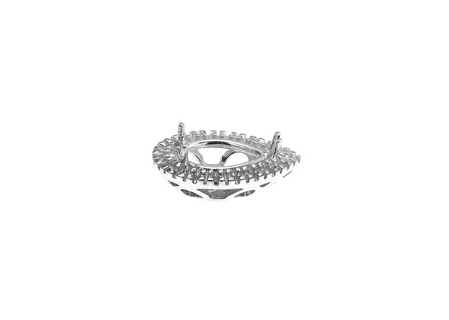 Diamond Pear Basket W/Side Stones