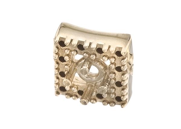 Square Diamond Cluster Pendants
