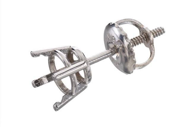 Diamond Stud Screw Back Earrings
