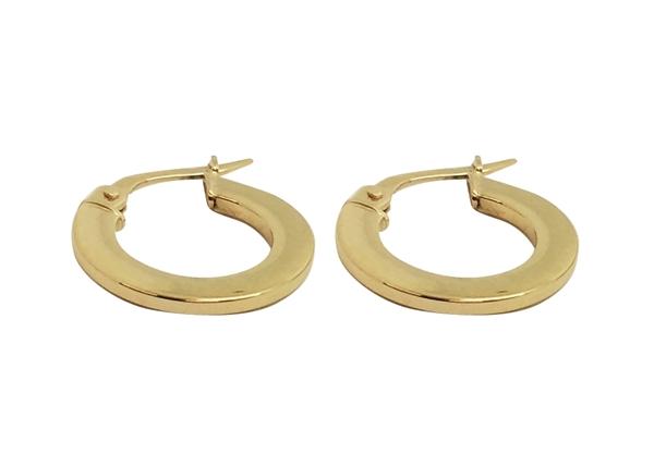 16mm Round Flat Hoop Earring