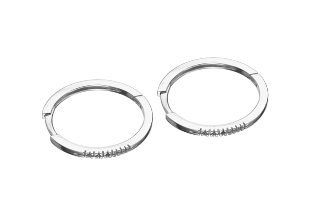 20mm Pave Hoop Earring