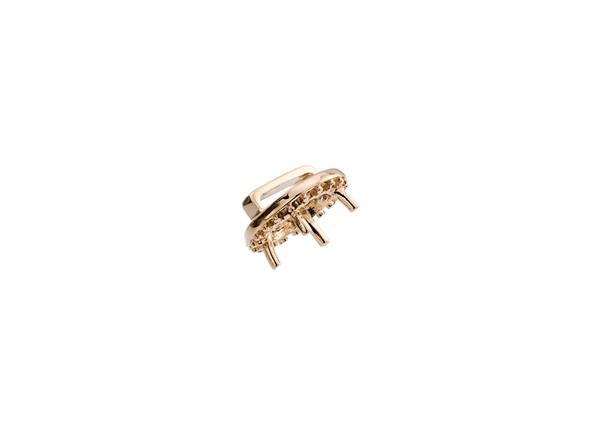 Diamond Cluster Earring W/Side Stones
