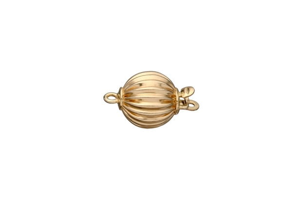 Corrugated Ball Bead Clasp-10mm
