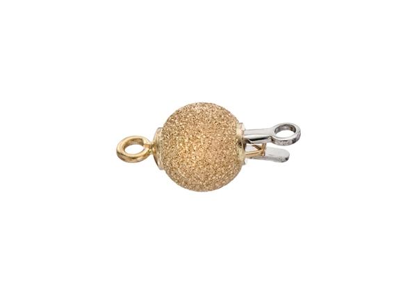 Diamond Cut Ball Bead Clasp-8mm