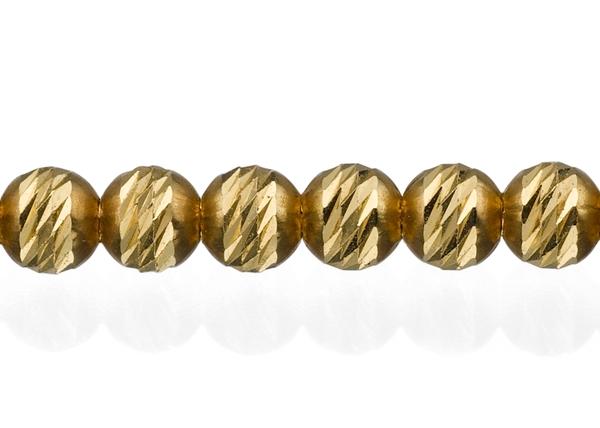 3mm Diamond Cut Beaded Bracelet By Meter