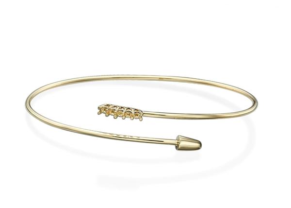 Diamond Bangle Bracelet-Flexible