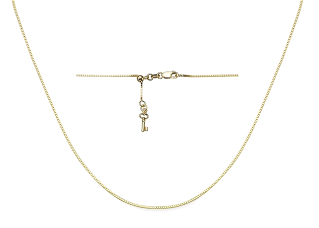 0.5mm Adjustable Box Chain With Key