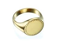Engraved Round Signet Ring