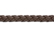 6mm Round Braided Leather Cord