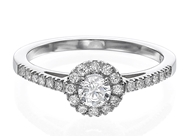 Halo Engagement Ring 4.2mm/0.30ct