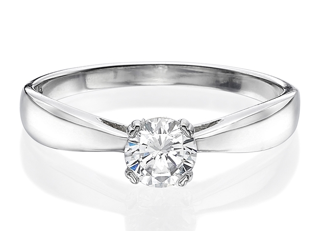 Cathedral Solitaire Ring 4.2mm/0.25ct