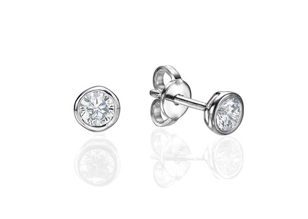 Bezel Set Earrings 0.5 ct tw in