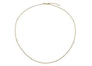 Bezel Set Diamond Necklace 0.12 CT TW