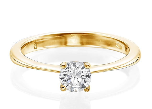 4 Prong Solitaire Ring 4.2mm/0.25ct